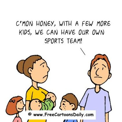 Funny Sports Cartoons- Building a Sports team