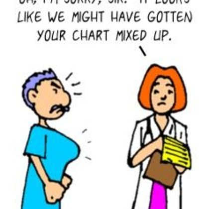 Funny Doctor Cartoon-Doctor's Mistake