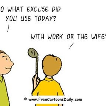 Funny Golf Cartoon - golf, work and wife
