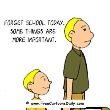 Funny Golf Cartoon -skipping school to golf
