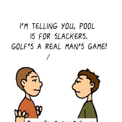 Funny Golf Cartoon - golf vs pool