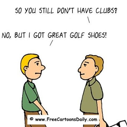 Funny Golf Cartoon - golf shoes