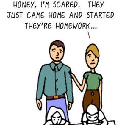 Funny Family Cartoons-  A Scary occurrence