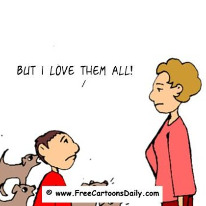 Funny Family Cartoons- Dog adoption