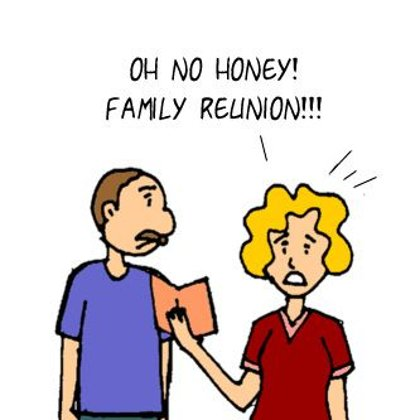 Funny Family Cartoons- Family Reunion NOW!