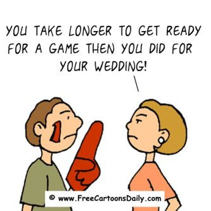 Funny Sports Cartoons- Wedding vs Golf Game