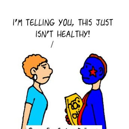 Funny Sports Cartoons- That's not Healthy!