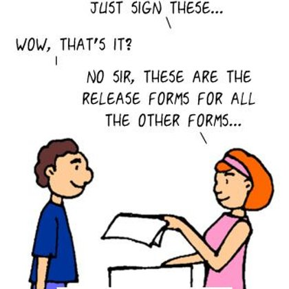 Funny Doctor Cartoon- Just Sign these