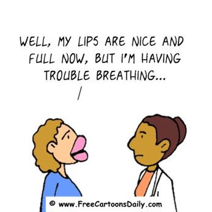 Funny Doctor Cartoon- Lip Surgery