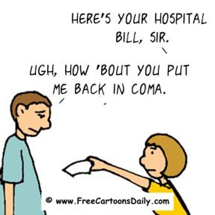 Funny Doctor Cartoon- Hospital Bills be Like...