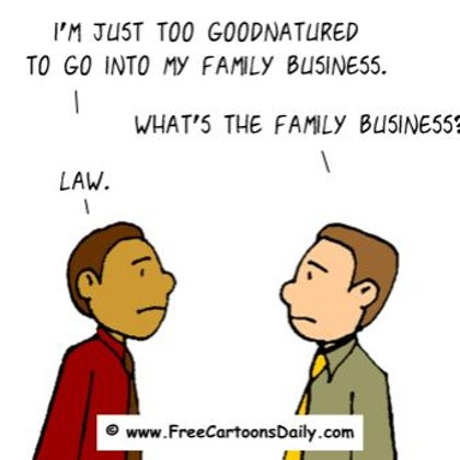 Funny Optismism Cartoon- Family Business