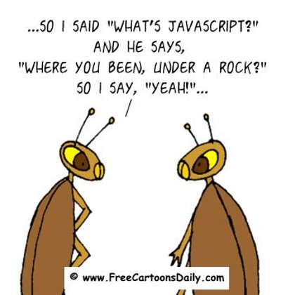 Funny Computer Cartoon Javascript Cockroach