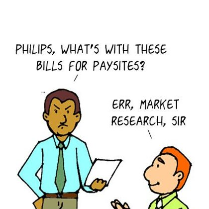 Funny Computer Cartoon-Adult Cartoon joke about bills
