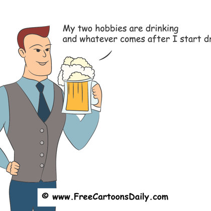 hobbies and beer cartoon for sale