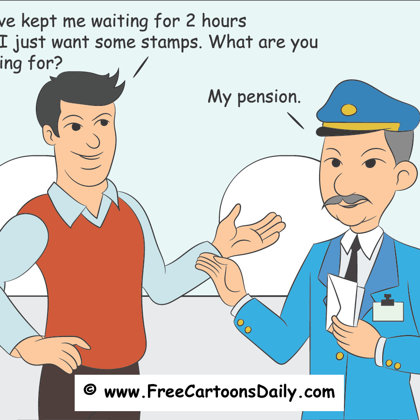 work cartoon postman