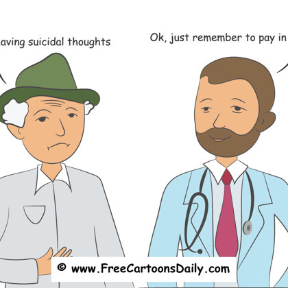 psych doctor cartoon