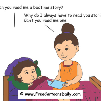 kid and bedtime story  - cartoon